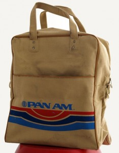 A vintage Pan-Am flight bag, which helped inspire Scaramanga's Flight Bag