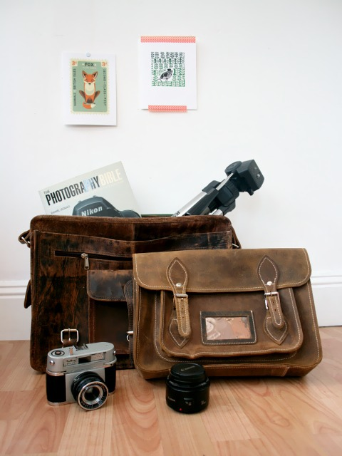 Keep your camera safe with a leather bag from Scaramanga