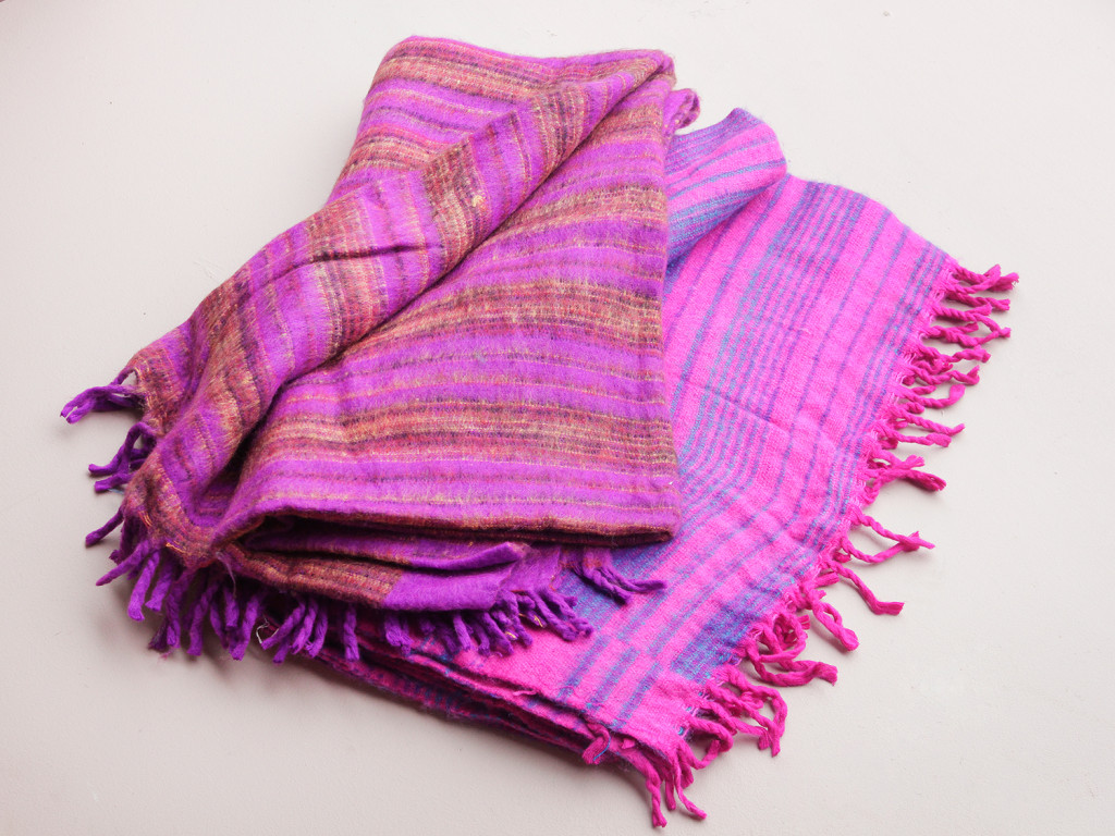 colourful wool blanket