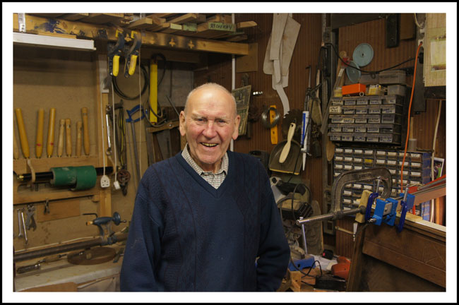 Bill's workshop, which is the size of a garage