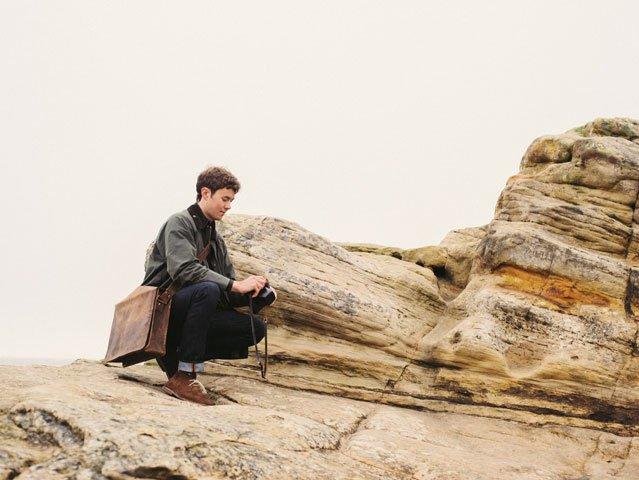 Large Wide Leather Messenger Bag, £97.50