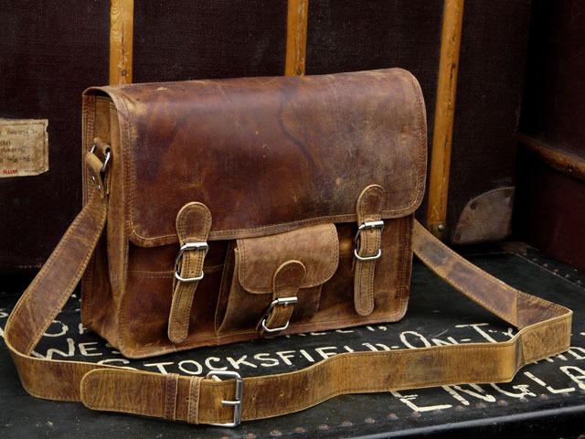 Medium Leather Old School Satchel, Was £90 Now £58.50