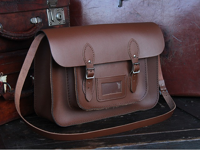 Brown Leather 15 Inch Classic Satchel, £90