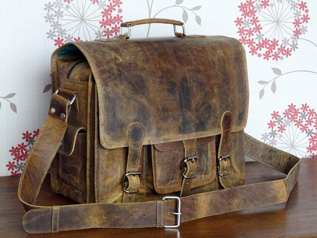 Medium Overlander Leather Satchel, £120