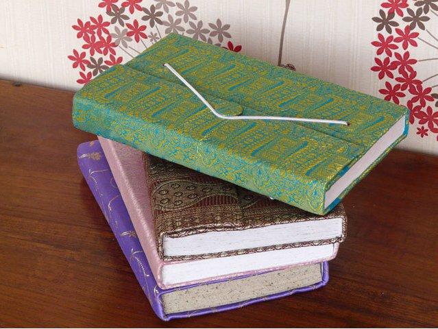 Large Silky Sari Notebook, £10