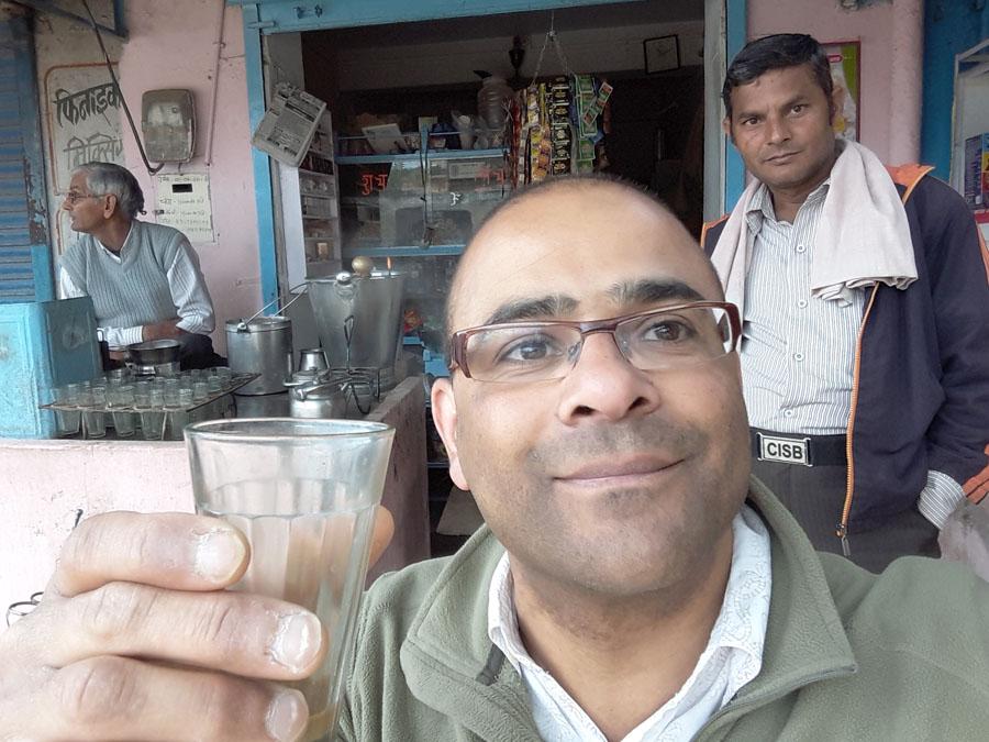 Chai time in Ramgarh, Shekhawati