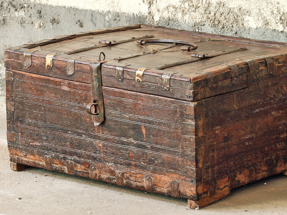 A antique Shekhawati merchant's chest