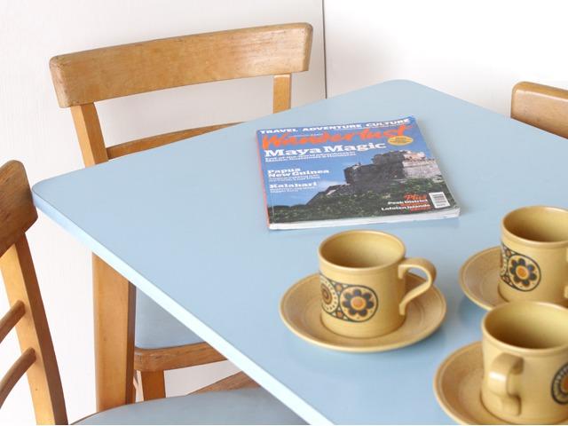 Vintage Blue Formica Table, £125