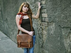 Girl's Leather Satchel £55 By Scaramanga