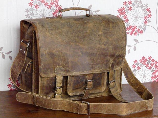Large Handmade Overlander Leather Bag, £135