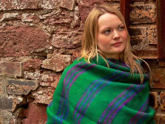 Colourful Fringed Woolly Wrap Shawl, £15