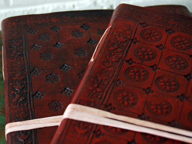 Extra Large Handmade Embossed Leather Journal, £32.50
