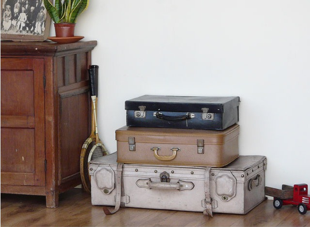 Various Vintage Suitcases by Scaramanga