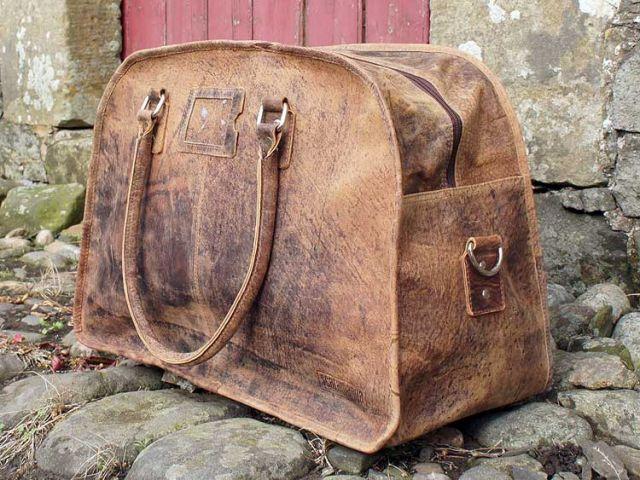 Vintage Leather Travel Holdall, £149