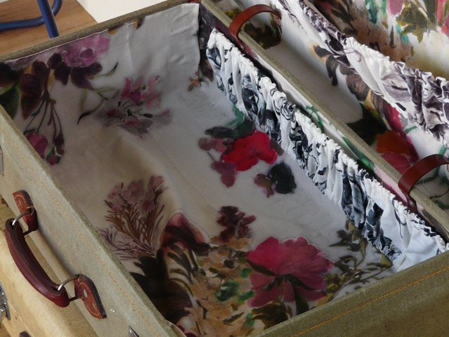 Vintage Grey Military Suitcase, £80