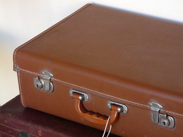 Vintage Brown Leather Suitcase, £32.50