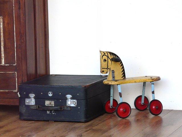 Vintage Blue Travel Trunk, £70