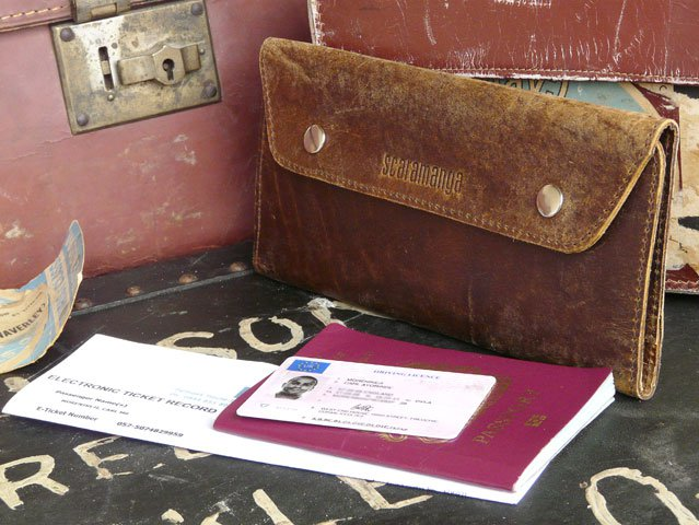 Leather Travel Wallet, £29.75