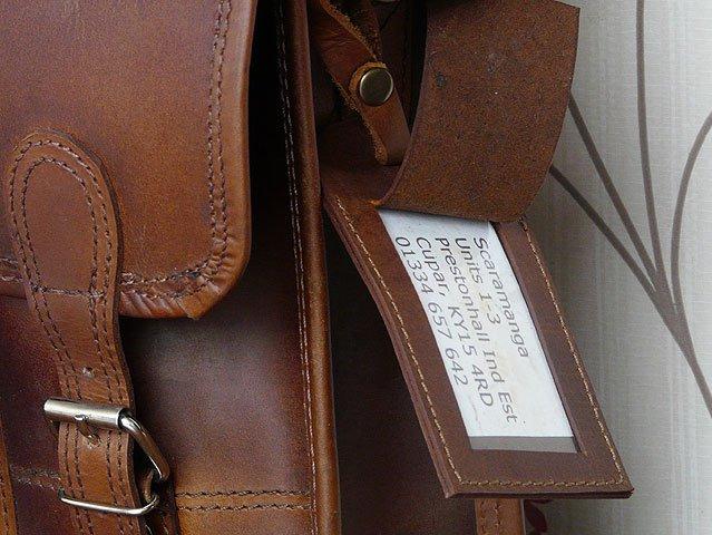 Vintage Leather Luggage Tag, £3
