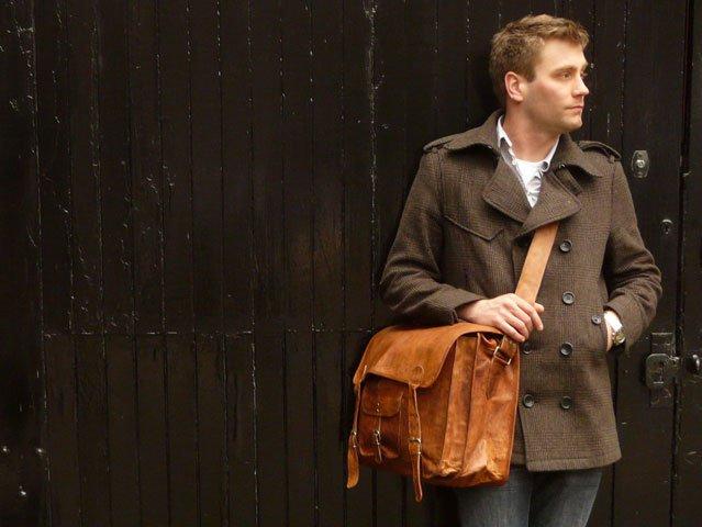 Medium Overlander Leather Satchel, £130
