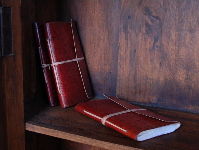 Large Leather Travel Notebook, £16.50