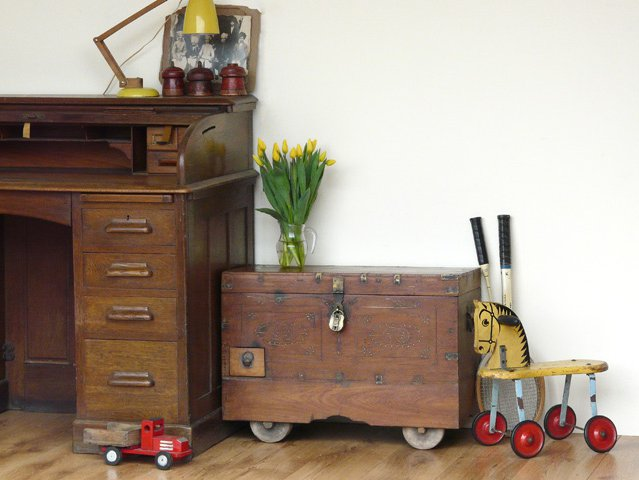Antique Hardwood Wedding Chest, £400