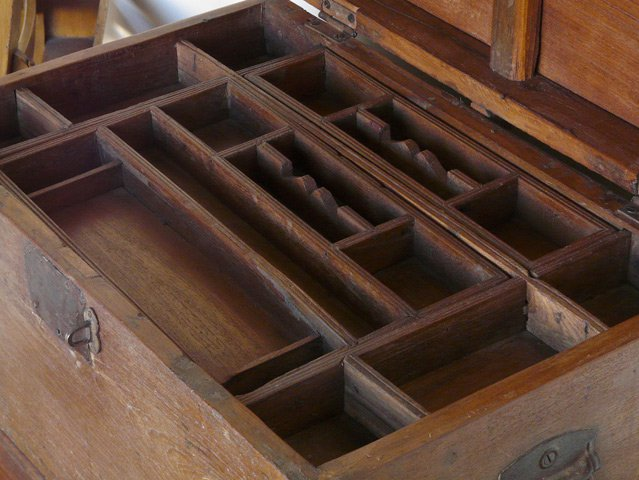 Vintage Hardwood Merchants Chest, £175