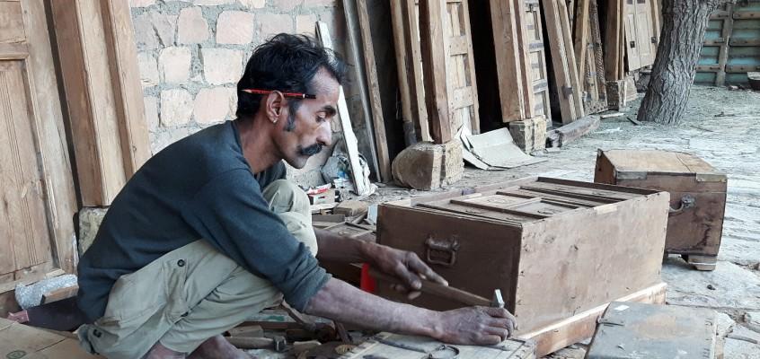 Antique Wooden Chest Restoration By Master Craftsman