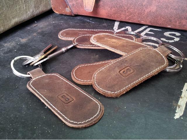 Leather Keyring, £2.50
