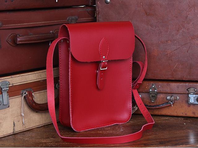 Red Leather iPad Satchel, £65