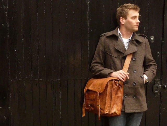 Medium 16 Inch Overlander Leather Satchel by Scaramanga