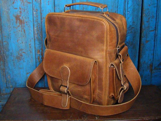 Vintage Leather Flight Bag, £84.50