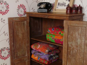 A more classic, traditional vintage wooden cupboard