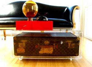 A vintage travel trunk