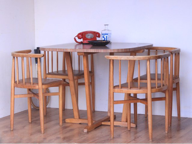 Retro Formica Table and Chairs, £325