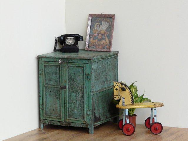 Vintage Turquoise Kitchen Cupboard, £235