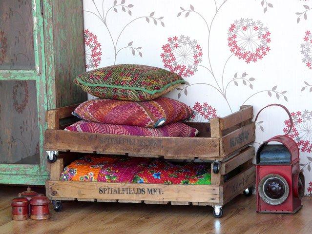 Vintage Stamped Wooden Apple Crates, £50 per pair