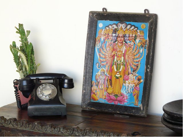 Framed Vintage Indian Print, £75