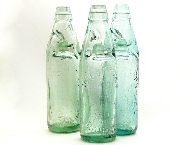 Antique Embossed Spring Water Bottle, £8