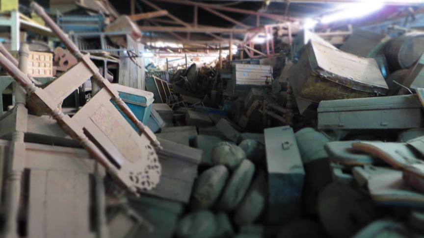 It's difficult to describe the quantity (and quality) of the treasure found in the warehouses Scaramanga like to root through | sustainability with scaramanga