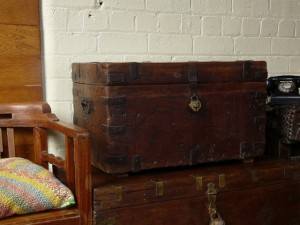 A larger pirate style treasure chest at Scaramanga