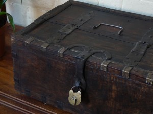 An antique pirate style trunk