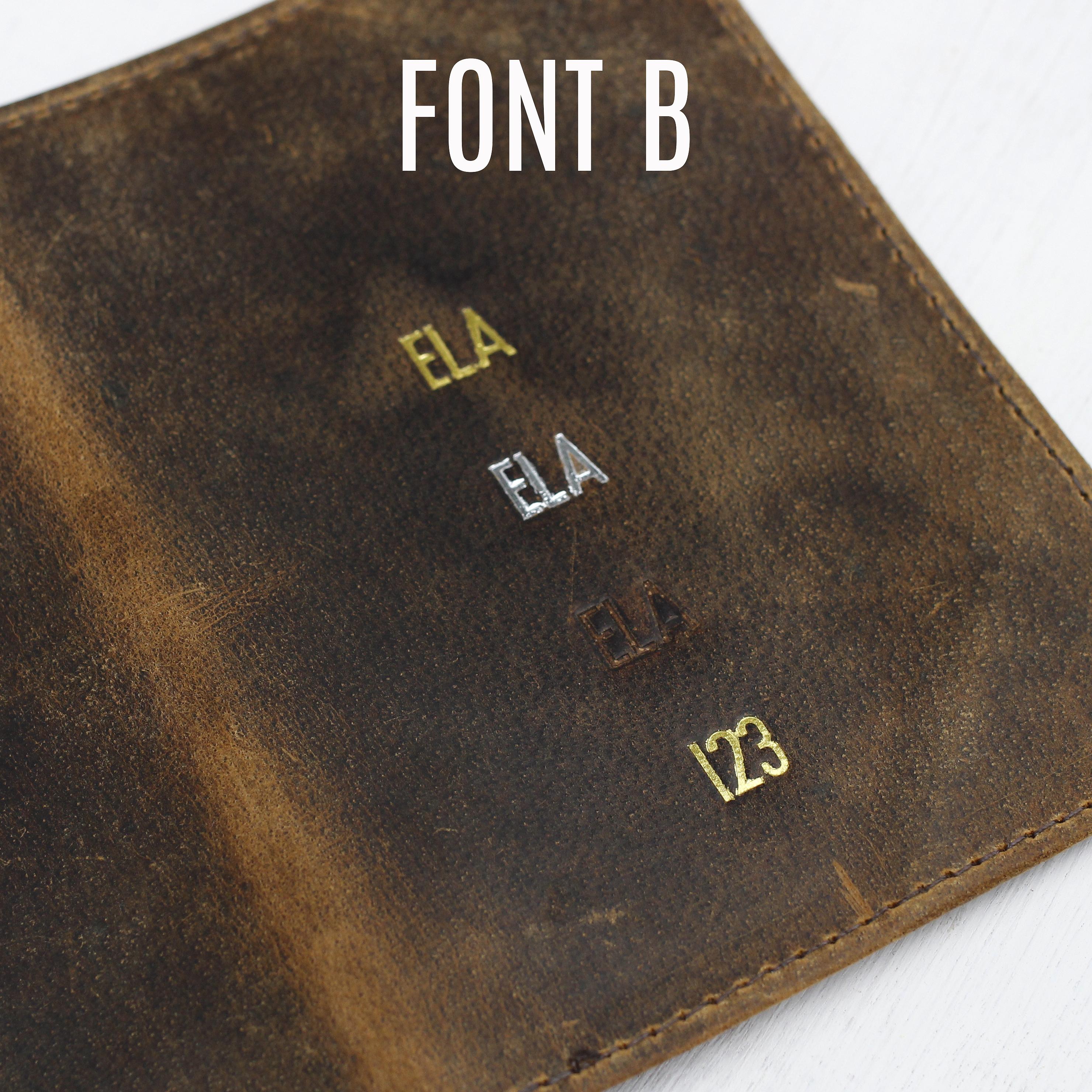 Embossing FONT B