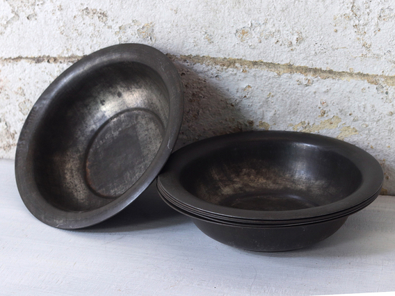 View our   Old Metal Bowl - Small from the   collection