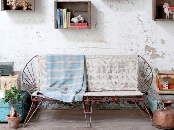 View our   Vintage Metal Bench from the   collection
