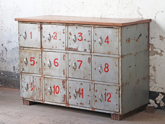 View our  Vintage Locker Cabinet from the  Hallway collection