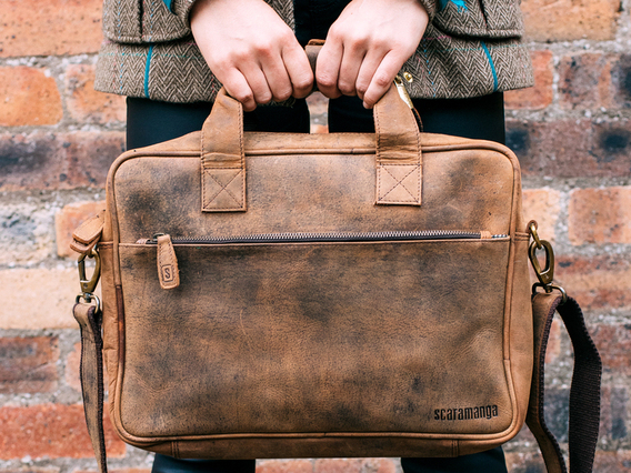 14 Inch Leather Laptop Bag For Women