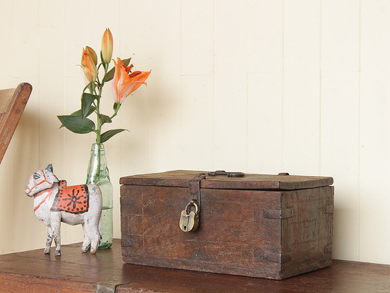 View our  Old Wood and Metal Antique Teak Box from the   collection