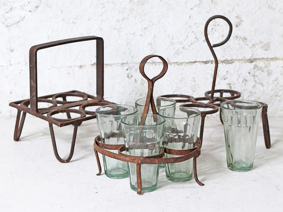 View our  4-Cup Metal Vintage Chai Holder from the   collection