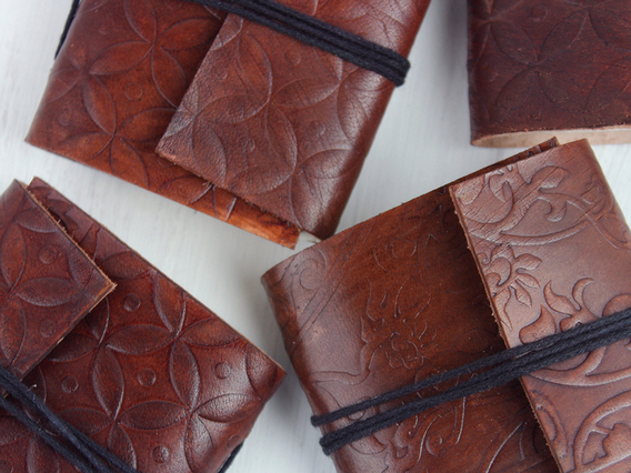 View our  5 Mini Leather Journals from the   collection